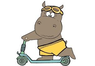 幼兒園大班健康活動:小河馬的大口罩
