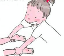 三岁宝宝体育课集体游戏-拔萝卜-日韩