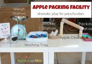 来个苹果五袋——区角游戏,苹果包装厂