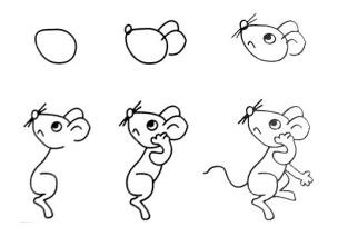 中班美术教案 小老鼠