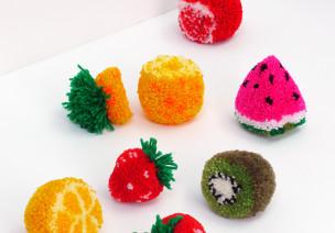 你是我的小水果——草莓毛線吊飾篇