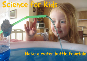 好玩的科学实验:水瓶喷泉