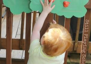幼儿感官游戏——摘苹果
