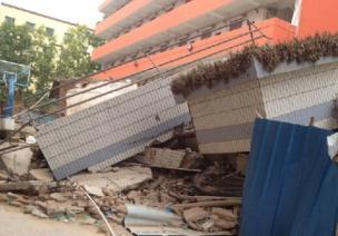 杜�^校舍倒塌造成的�盒允录�(三)