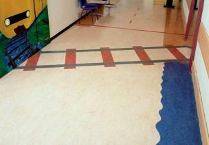 幼儿园室内地面装饰