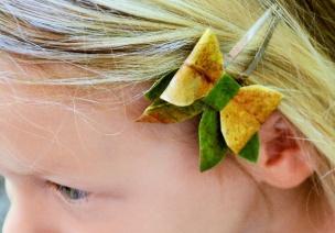 """""""树叶花""""小发卡,把自然戴在头上"""
