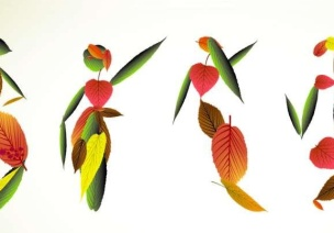 幼儿园大班美术教案:树叶创作画