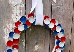 看看美国国庆节(独立日)的花环