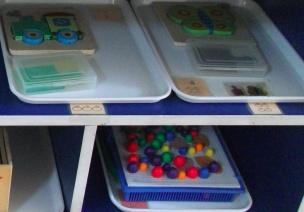 益智区的玩具收纳
