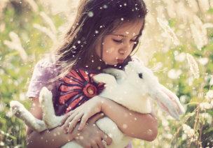 �孩子的心�`�e放�w自然