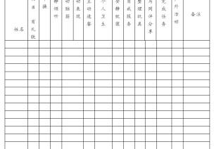 幼儿在园一日情况表、幼儿发展评估表