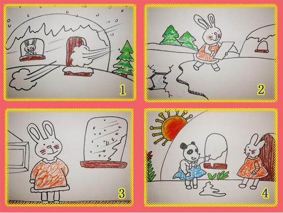 中班語言教案:看圖講述《小兔家的窗》