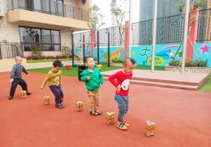 中班協調性體育游戲—玩易拉罐