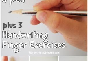 实用贴:学习执笔的手指游戏