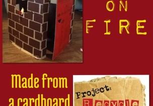 手工制作:着火的房子