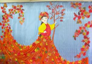 秋季环创集锦:主题墙、窗花、吊饰