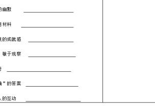 【表格篇】�[�蛴^察��表、活�语L格��物�z�y表