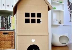 幼儿园里娃娃家的一切,都可以用纸箱来做~