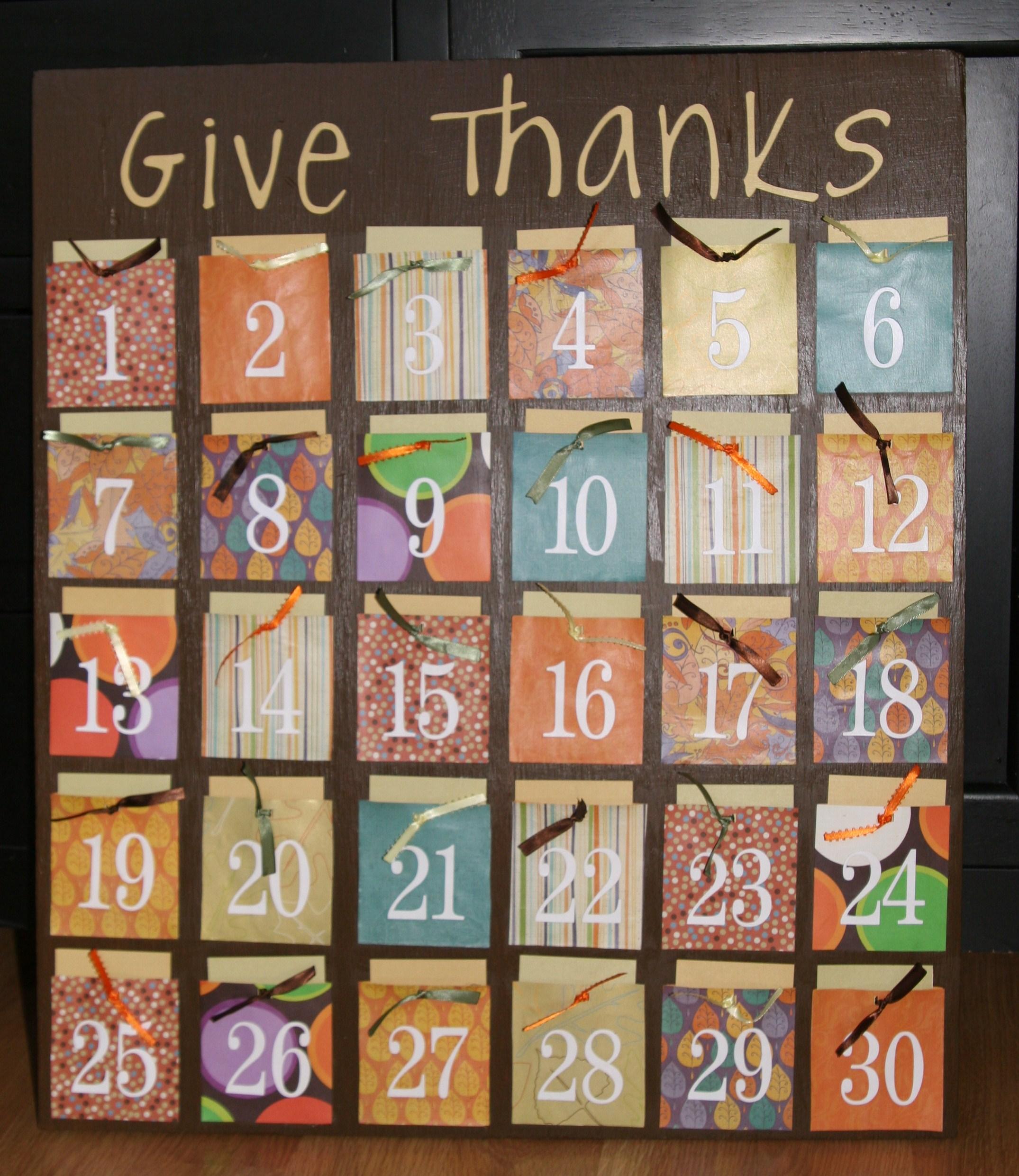 感恩节墙饰 | 感恩月历板,让这个节日充满仪式感