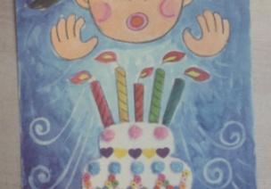 幼儿手工--生日快乐!