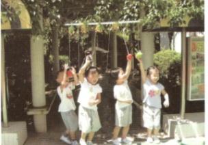 小班户外游戏--摘果子