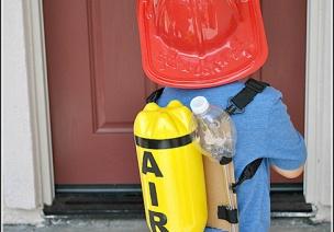 消防手工 | DIY消防员空气呼吸器,变身救火小英雄