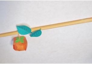来自日本的丰收秋季手工--采摘柿子!