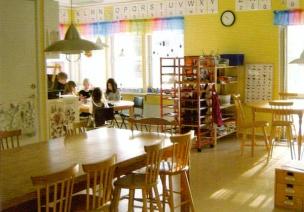 瑞典幼儿园——活动区和墙面布置