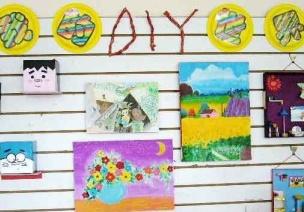 幼儿园活动区互动墙