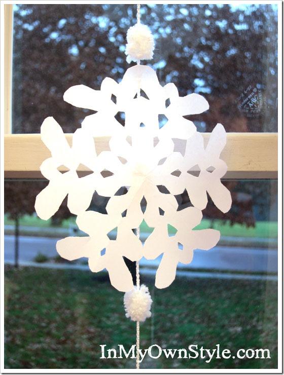 冬季窗飾:雪花