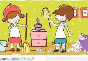 【家园共育】让孩子参与到劳动中来。