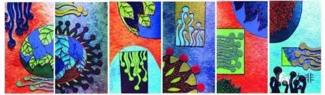 综合材料装饰画——《春夏夜之星》