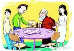 家园共育(中大班):餐桌礼仪12点。