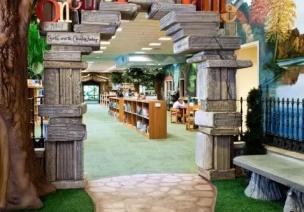 书的海洋,树的天地——时尚的阅读室