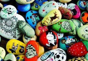 中班美术教案:我给石头画画装