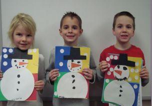 布朗老师的美术课之雪人拼贴画