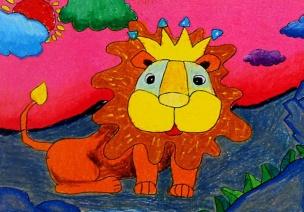 大班绘画教案-狮子