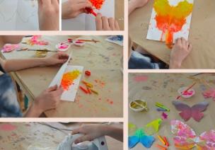 色彩绘画 | 儿童急走追蝴蝶,飞入菜花无处寻