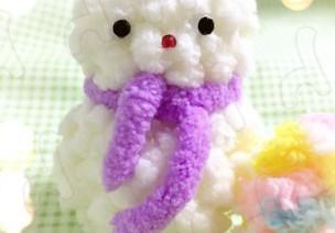 【原创】毛线球 萌哒哒小雪人