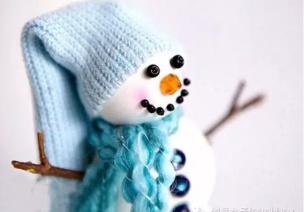"""冬季手工灵感:换种方式""""堆""""雪人!"""