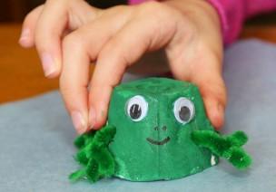 青蛙手工   我和青蛙王子有个约会