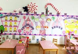 《美味的糖果城堡》主題墻及活動區環創設計
