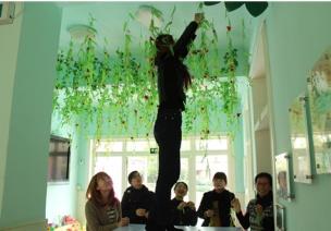有关树木的主题活动 | 中班艺术领域:制作垂柳