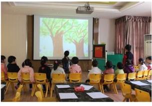 关于树木的主题活动 | 中班美术教案:春天的树林(布拓印画)