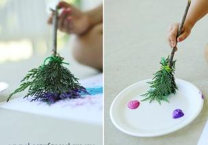 不用画笔,孩子们却创造出最美的自然画卷!