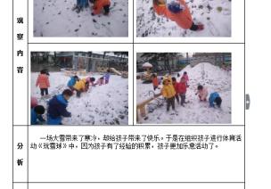 幼儿园户外体育活动观察记录表案例