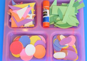 彩纸创意玩法|我用形状拼贴出整个世界