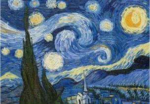 大班美术欣赏公开课《星月夜》