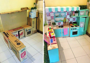 她不花1分钱为女儿做了个梦幻厨房,脸书获得100万个赞
