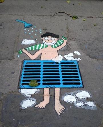 井盖涂鸦 | 艺术里的安全教育